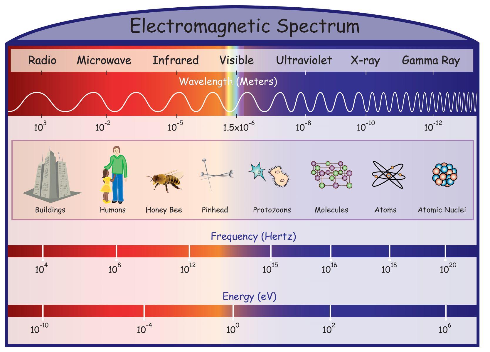 electro magnetic spectrum scale